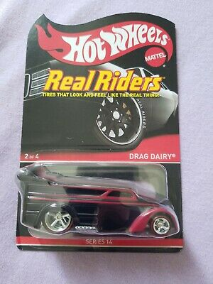 2016 Hot Wheels RLC Series 14 Real Riders DRAG DAIRY Black Soft Corner Package
