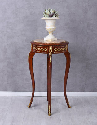 Flower Stand Baroque Table Stool Marble Top Flower Stand Side Table Antique