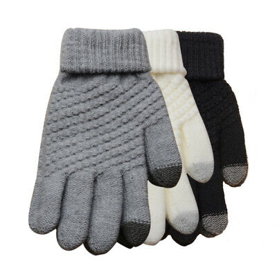 Touch Screen Gloves for Men Women Warm Windproof Full Finger Mittens for Cycling