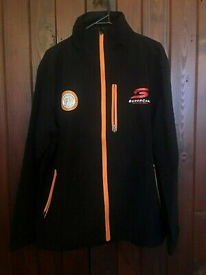 Coopers Supercars Official Beer Jacket Black Zip Up Size Medium Brand New
