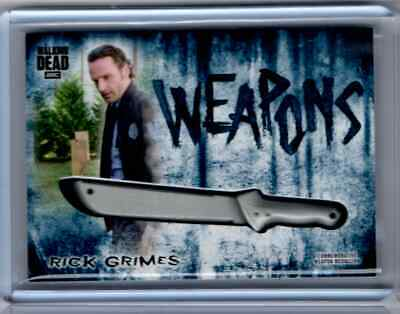 Topps Hunters and The Hunted AMC Walking Dead Rick Grimes Weapons Card #14/50