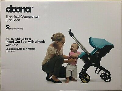 Doona Infant Baby Car Seat Travel Stroller Grey/Storm with Latch Base NEW