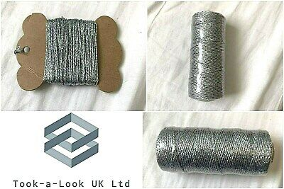Beautiful Bakers Twine Solid Silver 2Mm 12 Ply Craft String Excellent Quality