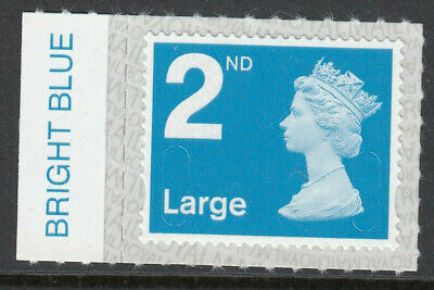 GB 2019 2nd LARGE CODE M19L SBP2u BRIGHT BLUE on SELVEDGE MNH From Counter Sheet