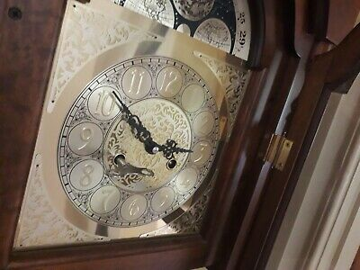 Earth phase floor grandfather clock.