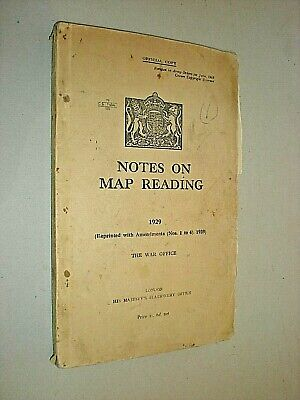 Notes On Map Reading. 1940. Ww2. Hmso. War Office Publication. Illustrated