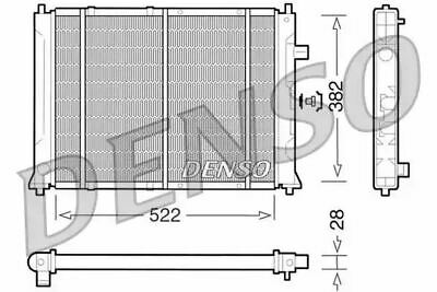 Denso Radiateur DRM24014 Remplacement GRD937 731818