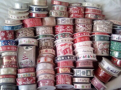Christmas Ribbon *A Large Selection Of Over 80 Designs* Ribbon For Everyone