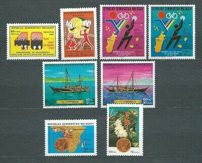 MADAGASCAR - 1987 YT 794 à 801 - TIMBRES NEUFS** MNH LUXE