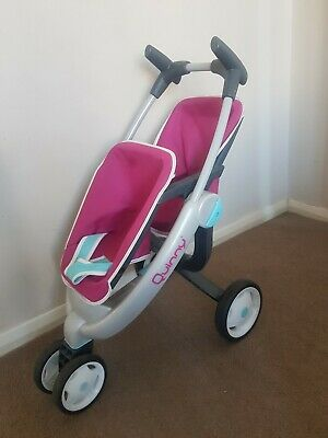QUINNY Kids Child Toy Dolls double twin pushchair buggy pram jogger stroller vgc