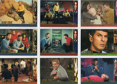 Star Trek TOS Season 1 - Lot Of 14 Character Log chase cards NM Skybox 1997