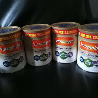 4 CANS New Sealed Extra Value Size Nutramigen Baby Formula 27.8oz Tubs