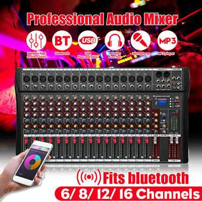 6/8/12/16 Channels 48V bluetooth Pro Live Studio Audio Mixer USB Mixing Console