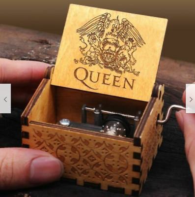 NEW 2019 Retro Music Box Wooden Engraved Queen Christmas Gift Toys Free Shipping