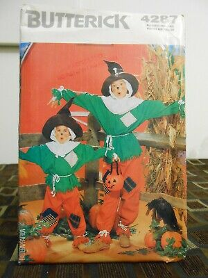 Butterick Scare Crow Halloween Costume Pattern 4287 Size 4-5 6-7 8-10 12-14