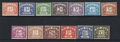 Gb Great Britain  1959-63 Multiple Crowns  Postage Dues Very Lightly Hinged Mint