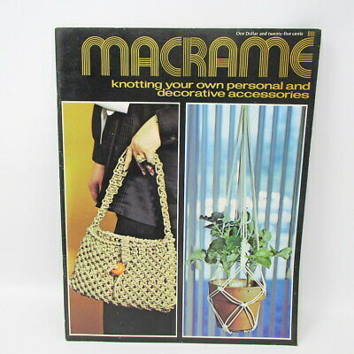 Macrame Knotting Your Own 32 Pages 7112 Personal Decorative 1971 Royal Craft