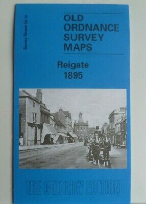 Old Ordnance Survey Detailed Maps Reigate  Surrey 1895 Godfrey Edition Offer