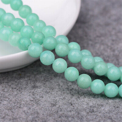 Natural Amazonite Loose Beads Making Jewelry 15 inches Healing Craft Handmade