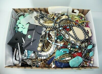 Junk Drawer Fashion Jewelry Lot Repair Wear Scrap 8.8 Pound #89Bpl