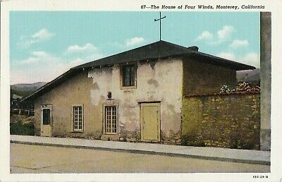 The House of Four Winds Monterey California Postcard Linen Unposted