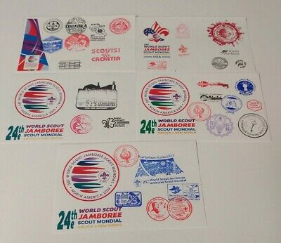24th 2019 World Scout Jamboree cover set - Contingent series