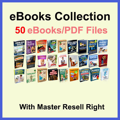 50+eBooks Package collection | pdf Format | With Master Resell Rights