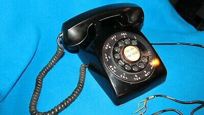 Western Electric Vintage Rotary Dial Desk Telephone 500 Working