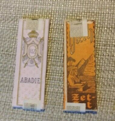 2 Packs WW2 German Cigarette Rolling Papers 1 Gizeh ZetZet 1ABADiE NOS Tax Stamp