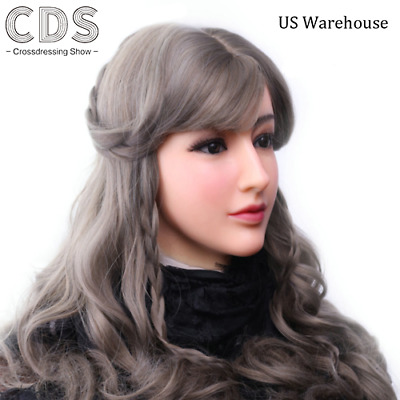 Female Soft Silicone Masquerade Masks For Crossdressers Halloween Cover Scars