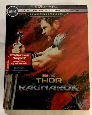 THOR: Ragnarok 4K Ultra HD+Blu-ray+Digital SteelBook Best Buy Exclusive Rare OOP