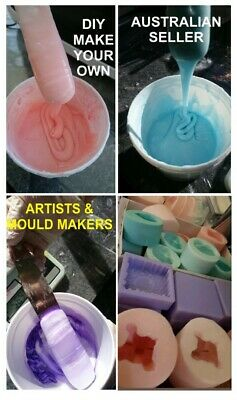 1kg LIQUID SILICONE rubber for mould making + Free colour Easy DIY make your own