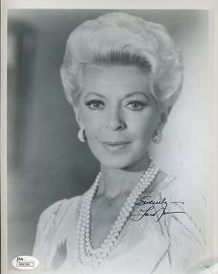 Lana Turner Signed Jsa Certed 8X10 Photo Authenticated Autograph