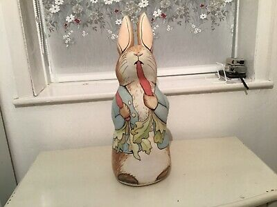 Vintage Large Peter Rabbit Door Stop Ex Condition