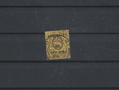 Great Britain EDVII Admiralty Officials #O77 $160 (D37)