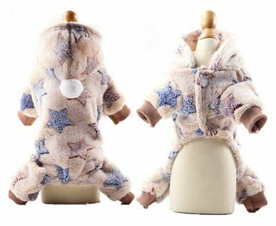 Jumpsuit Winter Dog Soft Fleece Dog Clothes Small Puppy Coat Pet Outfits Hoodie