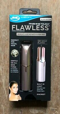 JML Finishing Touch Flawless Facial Trimmer-Rose Gold Brand New Unopened