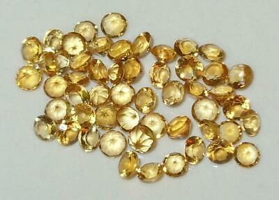 Lot 53pcs 2.35mm-2.6mm Beautiful Brazil Gold Citrine Round Cut 3ct SPECIAL