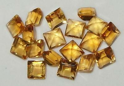 Lot 18pcs 3mm Beautiful Brazil Gold Citrine Square Princess Cut 2.96ct SPECIAL