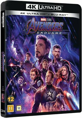 Avengers Endgame 4K Ultra Hd Blu-Ray New/Sealed (Abc) 3-Disc Dolby Atmos 7.1
