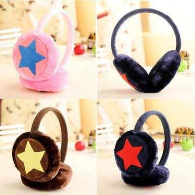 Kids Girls Soft Star Winter Protect Ear Warm Earmuff Headband Plush Earmuff LC