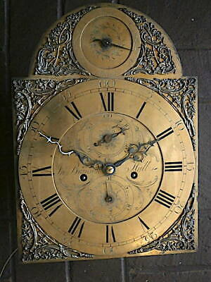C1750 8 day   LONGCASE GRANDFATHER CLOCK DIAL+movement 12X16+1/4     JOHN BRAINS