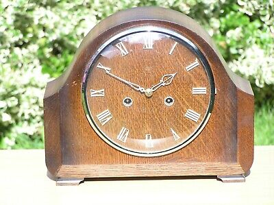"Enfield (Smiths) 8-Day ""LANGLEY"" MANTEL CLOCK Restored Working Order Mantle"