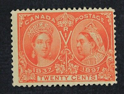 CKStamps: Canada Stamps Collection Scott#59 Jubilee Mint OG Gum Dist, Tiny Thin