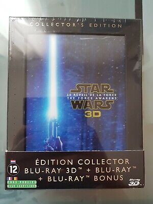 Star Wars : Le Réveil de la Force Blu-ray 3D +2D+ Bonus - NEUF Edition collector