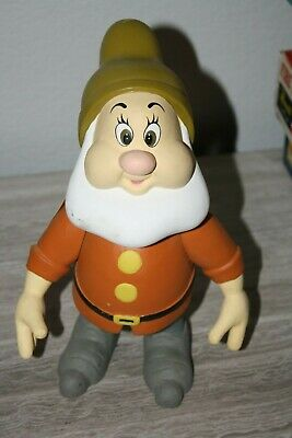 """Vintage Hand-Carved & Painted 10"""" Wooden Disney Snow White Doc Dwarf /1500"""