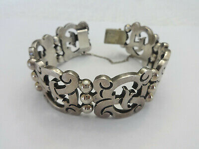 Vintage Mexican Sterling Silver LInk Bracelet, Made in Taxco