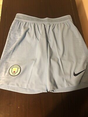 Manchester City Nike Vaporknit Player Issue Home Shorts- size L