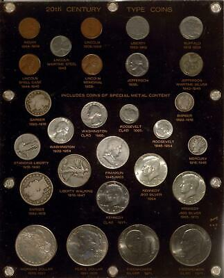 20th Century Type Coin Collection | Silver Plus | 26 Coins | 1878 to 1970