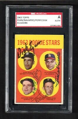 1963 Topps #169 ROOKIE STARS SIGNED BY ALL 4 AUTOGRAPH CARD  SGC AUTHENTIC